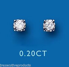 Orecchini A Lobo Con Diamante Oro Giallo Premium Orecchini Di Diamanti 0.20ct