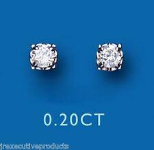Diamond Stud Earrings Yellow Gold Premium Diamond Earrings 0.20ct Claw Set