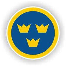 1x Sweden Air force Roundel vinyl sticker decal
