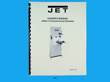 Jet JWBS-16 Woodworking  Band Saw  Operators & Parts List  Manual  *241