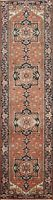 "Geometric Heriz Serapi Oriental Runner Rug Wool Hand-knotted 2' 6""x11' 6"" Carpet"