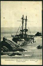 More details for 001-jlu : very rare - pre 1917 p.c. - h.m.s. montagu - see description