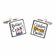 Builders Crack, Cracking Builder Cufflinks by Sonia Spencer, gift boxed. RRP £20