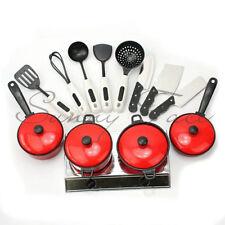 13pcs/Set Pretend Role Play Children Kids Cooking Appliance Cookware Kitchen