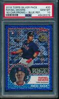 2018 Topps 1983 Rafael Devers Blue Refractor RC Silver Pack Chrome #20 PSA 10
