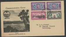 New Zealand, Fdc, #231-2,4, W/Clean Black Cachet, 1940