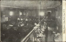 Fargo Nd Dakota Business College Bank c1910 Postcard