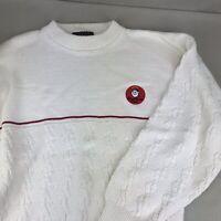 Good Sam Club Vintage Cable Knit Sweater Men's Large Cotton