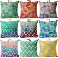 Boho Geometric Pillow Mandala Pattern Throw Pillowcase Cushion Cover Case Square
