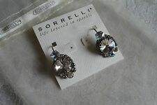 Sorrelli Large Round AB Clear Crystal Drop Earrings Bridal Swarovski NEW