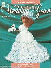 Wedding Gown Fashion Doll Crochet Bride Barbie Pattern Vicki Tignanelli NEW