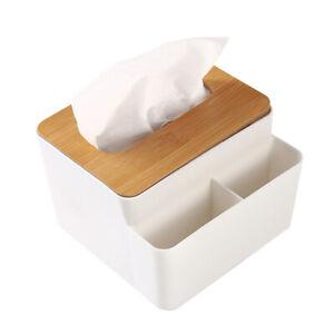 Natural Bamboo Tissue Box Cover Napkin Paper Case Holder For Hotel Home Decor SG