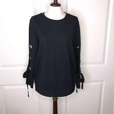 DREW Ribbon Sleeve Crewneck Sweater NWT