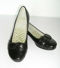 Clarks ~ Leder Schuhe Ballerinas ~ Größe 39 UK. 6 Schwarz ~ Neu