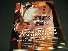 Alabama wearing Confederate Army Uniform My Home'S In Alabama 1982 Promo Ad mint