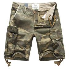 Fox Jeans Men's Elton Casual Military Camo Cargo Work Shorts Size 32
