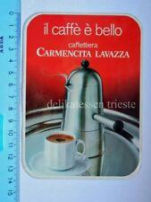ADESIVO sticker original vintage CARMENCITA LAVAZZA caffè caffettiera