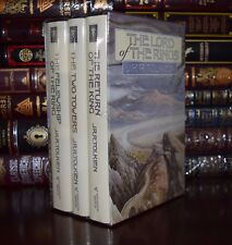 Lord of the Rings by J R R Tolkien New Sealed 3 Volume Hardcover Set 2 Day Ship