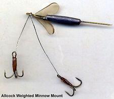 "Allcock 2"" Natural Dead Bait Minnow Mount Rig"