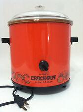 Vintage Rival Slow Cooker Crock Pot  3.5 Quart  Flame Red Orange Model #3100