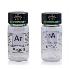 Argon gas elemento 18 Ar campione 99,9% mini ampolla in fiala etichettata