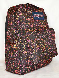 New JanSport SuperBreak Backpack -- Splatter Dot