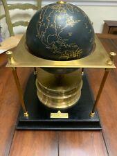 TX Estate Rare 1979 Royal Geographical Society World Clock Imhof Switzerland