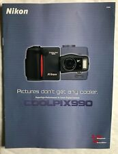 Nikon Coolpix 990 A4 8 page  Product Brochure