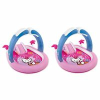 Intex Hello Kitty Play Center Inflatable Kiddie Playset Swimming Pool (2 Pack)