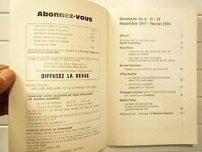 N° 31-32 NOV 1977 FEV 1978 COMMUNISME LE MARXISME LIGNE ECONOMIQUE CHINOISE