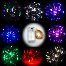 20 Small Micro LED Fairy Lights String AA Battery Copper Wire Wedding Bedroom