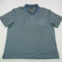 Greg Norman Mens Play Dry Golf Polo Shirt Shark XL Gray Stripes Casual
