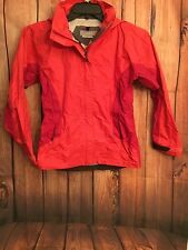 Cloudveil Zip Up Rain Coat - womans Two Toned Red With Hood - Xs (Lot B-5)