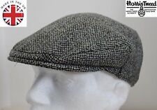 Genuine Harris Tweed Flat Cap Grey 58CM M NEW