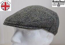 Genuine Harris Tweed Flat Cap Grey 60CM XL NEW