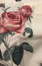 Vintage Roses Valance Bedroom New In Package 1980s Cabbage Roses Pinks