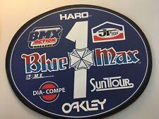 Old School OVAL BMX Number plate by OGK JAPAN -BLUE MAX