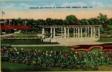 Pavilion and Pagoda in Overton Park Memphis Tennessee TN Postcard C7