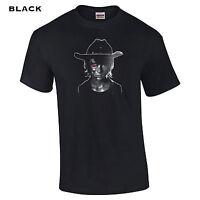 011 Carl Terminator Mens T-Shirt funny walker zombie scary horror apocalypse