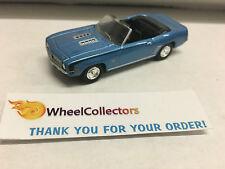 Motor World * LOOSE Greenlight 1/64 Scale * 1969 Chevy Camaro Blue * G113