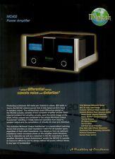 Super Rare Orig Factory McIntosh MC402 Power Amp Amplifier Dealer Sheet Page