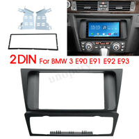 2 Din Car Radio fascia Panel Trim Adapter for BMW 3 Series E90 91 E92 E93 04-12