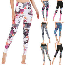 Women Yoga Leggings Gym Sports High Waist Pants Fitness Workout Stretch Trousers
