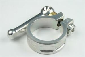 KCNC SC10 QR Seatpost Clamp Ti Axis Silver 31.8mm