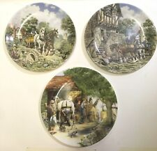 3x Royal Doulton Plates The Blacksmith + 2 other Old Country Crafts