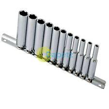 11 Piezas 0.6cm Unidad Sistema del zócalo Profundo cromo vanadio RESISTENTE