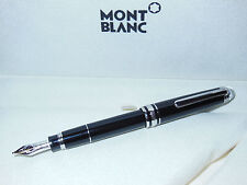 New* Montblanc Meisterstuck Diamond Mozart Fountain Pen Blk/Platinum Cream Box M