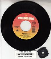 "MIDNIGHT OIL Truganini 7"" 45 rpm vinyl record + juke box title strip RARE"