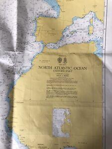 North Atlantic Ocean Nautical Chart