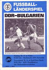 Fußball PROGRAMM LÄNDERSPIEL WM Quali  DFV  DDR - BULGARIEN 1985 Karl-Marx-Stadt